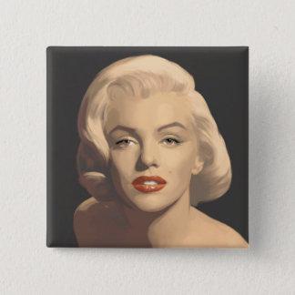 Grafiska gråa Marilyn Standard Kanpp Fyrkantig 5.1 Cm