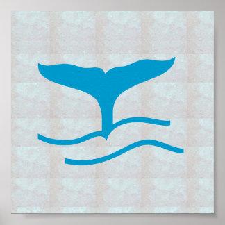 Grafiska varelser för haj för val för fisk för poster