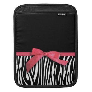 Grafiska zebra ränder och rött band iPad sleeve