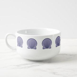 Grafiskt Blått-violett för kammusslasnäckskal Mugg För Soppa