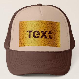 Grafiskt guld för hattglitter keps