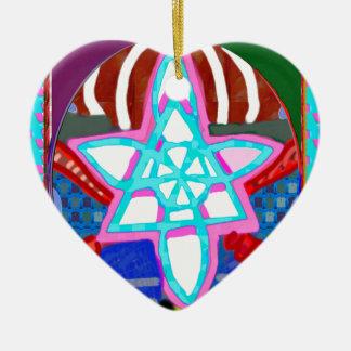 Grafiskt läka symbol för NOSA Karuna Reiki Julgransprydnad Keramik