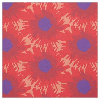 Grafiskt ljust rött purpurfärgat mönster för tyg