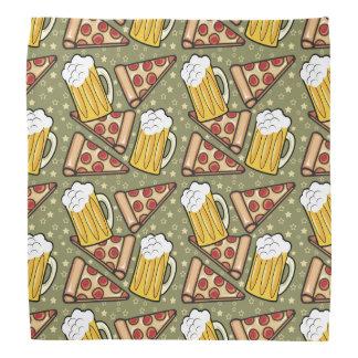 Grafiskt mönster för öl och för Pizza Scarf