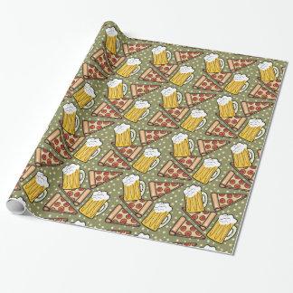 Grafiskt mönster V2 för öl och för Pizza Presentpapper