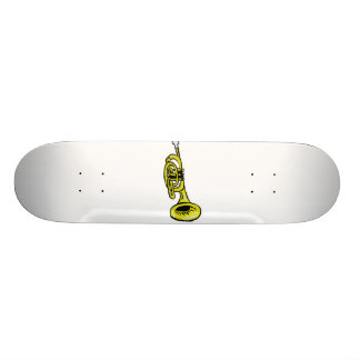 Grafiskt Squiggly för trumpet Mini Skateboard Bräda 18,5 Cm