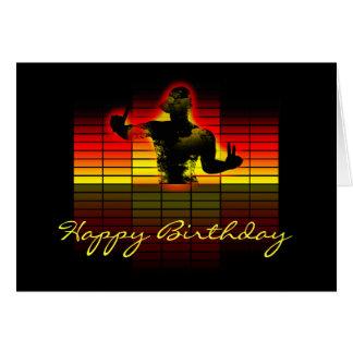 grafiskt utjämnarefödelsedagkort - musikfödelsedag