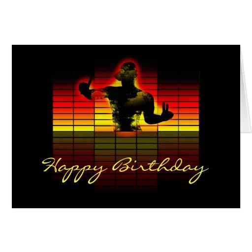grafiskt utjämnarefödelsedagkort - musikfödelsedag hälsnings kort