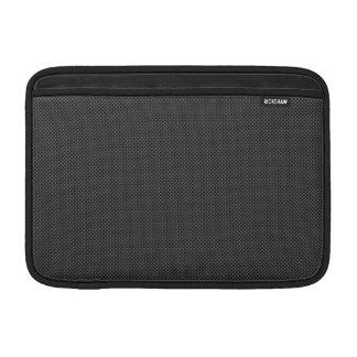 Grafit för svart- och grå färgmikrokolfiber MacBook air sleeve