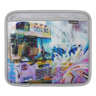 Grafitti för Chool skolbussSan Francisco gator Sleeve För iPads