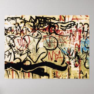 Grafitti på en vägg poster