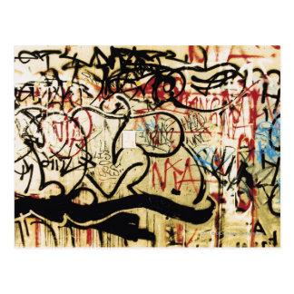 Grafitti på en vägg vykort