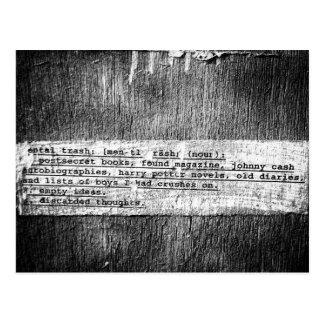 Grafitti/poesi Vykort