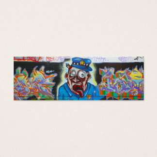 Grafitti profilerar kortet litet visitkort