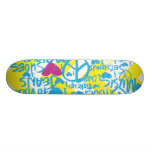 GrafittiAqua-Lilor Skateboard Bräda 20 Cm