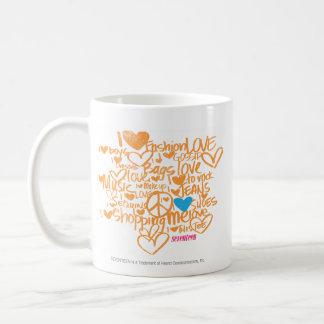 GrafittiAqua/orange Kaffemugg