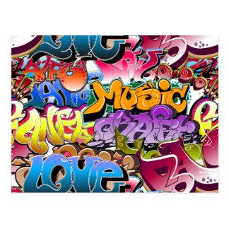 Grafittigatakonst Vykort