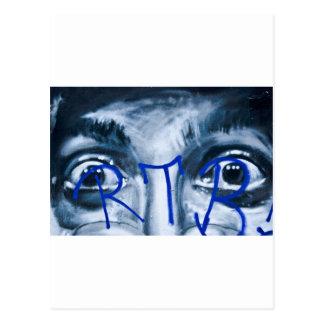 Grafittiögon som tittar dig vykort