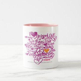 Grafittiorange/lilor Två-Tonad Mugg