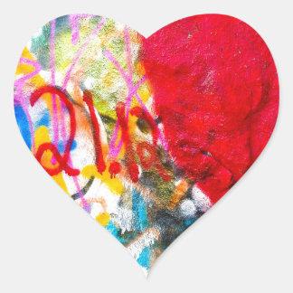 Grafittistenhjärta Hjärtformat Klistermärke