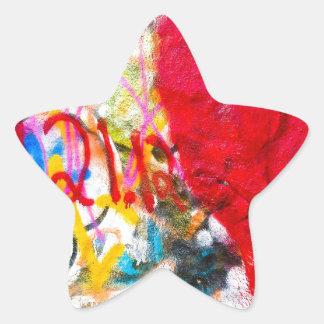 Grafittistenhjärta Stjärnformat Klistermärke
