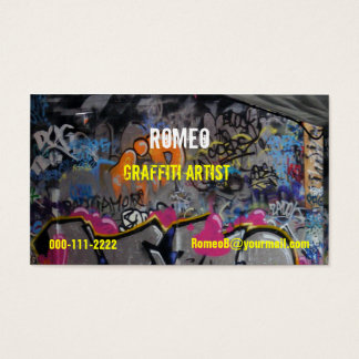 Grafittivisitkort Visitkort