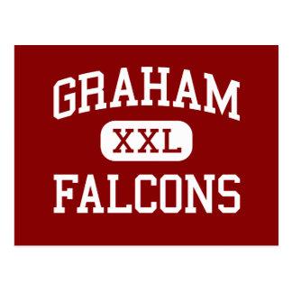 Graham - falkar - mittet - Graham North Carolina Vykort