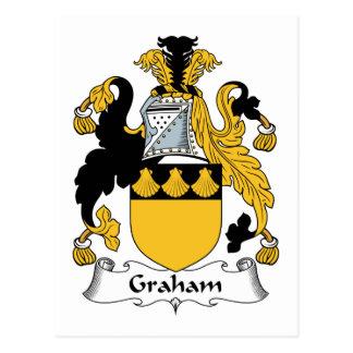 Graham familjvapensköld vykort