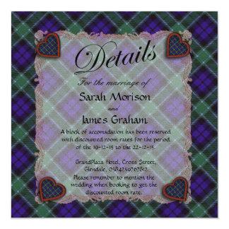 Graham skotsk klantartan - pläd fyrkantigt 13,3 cm inbjudningskort