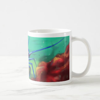 Grälsjuka skaldjur kaffemugg