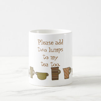 Grammatikpolis två klumpa sig till muggen för Tea Kaffemugg