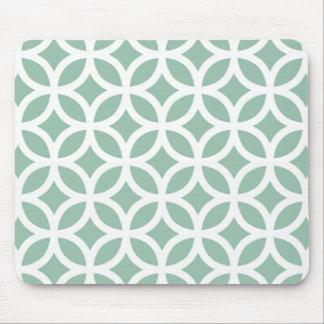 Grånad geometrisk Jadegrönt Mus Mattor