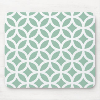 Grånad geometrisk Jadegrönt Musmatta