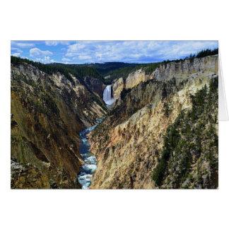 Grand Canyon av Yellowstonet River Hälsningskort