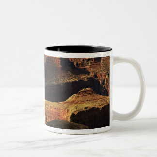 Grand Canyon från den södra kanten på solnedgång, Två-Tonad Mugg