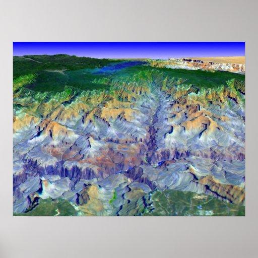 Grand Canyon i 3-D Affisch