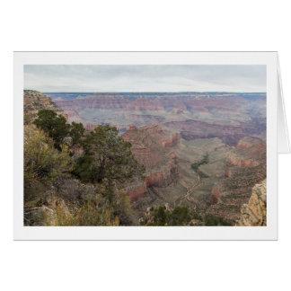 Grand Canyonhälsningkort Hälsningskort