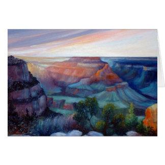 Grand Canyonskymning Hälsningskort