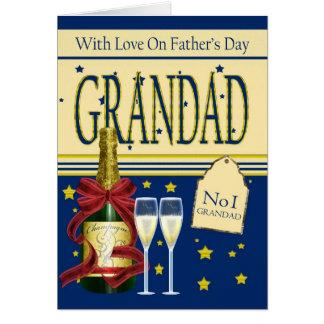 Grandad fars dagkort - champagne hälsningskort