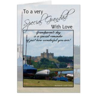 Grandad morförälderdagkort - Warkworth slott Hälsningskort