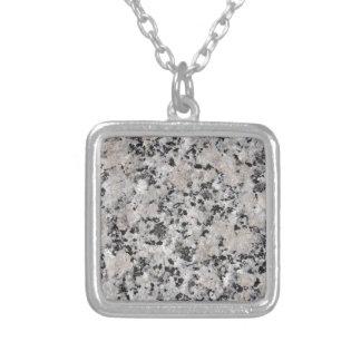 Granit Silverpläterat Halsband
