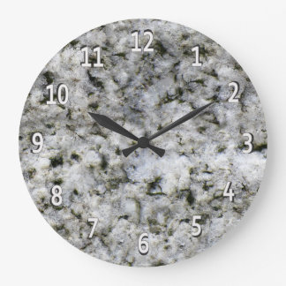 Granitstenvit med vitsiffror stor klocka