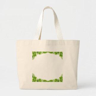Gräns för blom- löv jumbo tygkasse