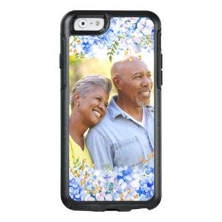 Gräns för foto för blåttvanlig hortensia blom- OtterBox iPhone 6/6s skal