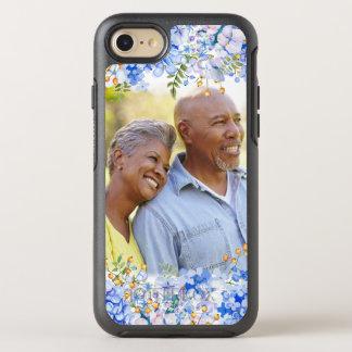 Gräns för foto för blåttvanlig hortensia blom- OtterBox symmetry iPhone 7 skal