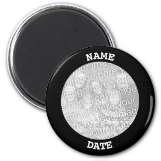 Black Personalized Round Photo Border