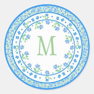 Gräns för runda för nätt blåttgröntvintergröna runt klistermärke