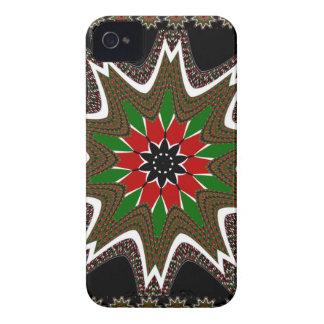 Gränsad design för Kenya kaffe brunt iPhone 4 Case-Mate Case