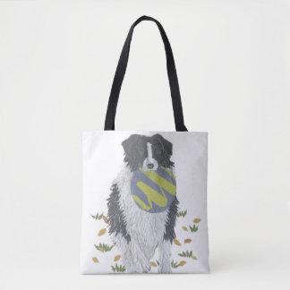 GränsCollie, Sheepdog, hundkonst som är modern Tygkasse