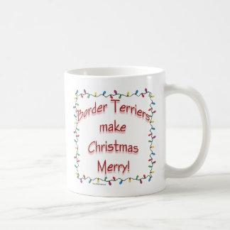 GränsTerriers gör jul glad Kaffemugg